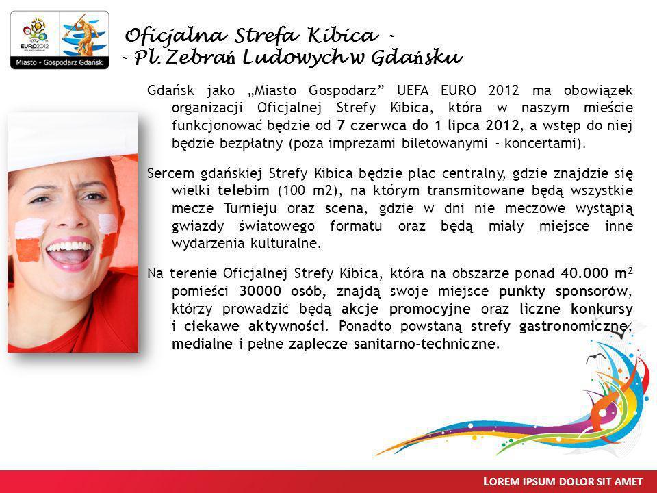 L OREM IPSUM DOLOR SIT AMET Gdańsk jako Miasto Gospodarz UEFA EURO 2012 ma obowiązek organizacji Oficjalnej Strefy Kibica, która w naszym mieście funk