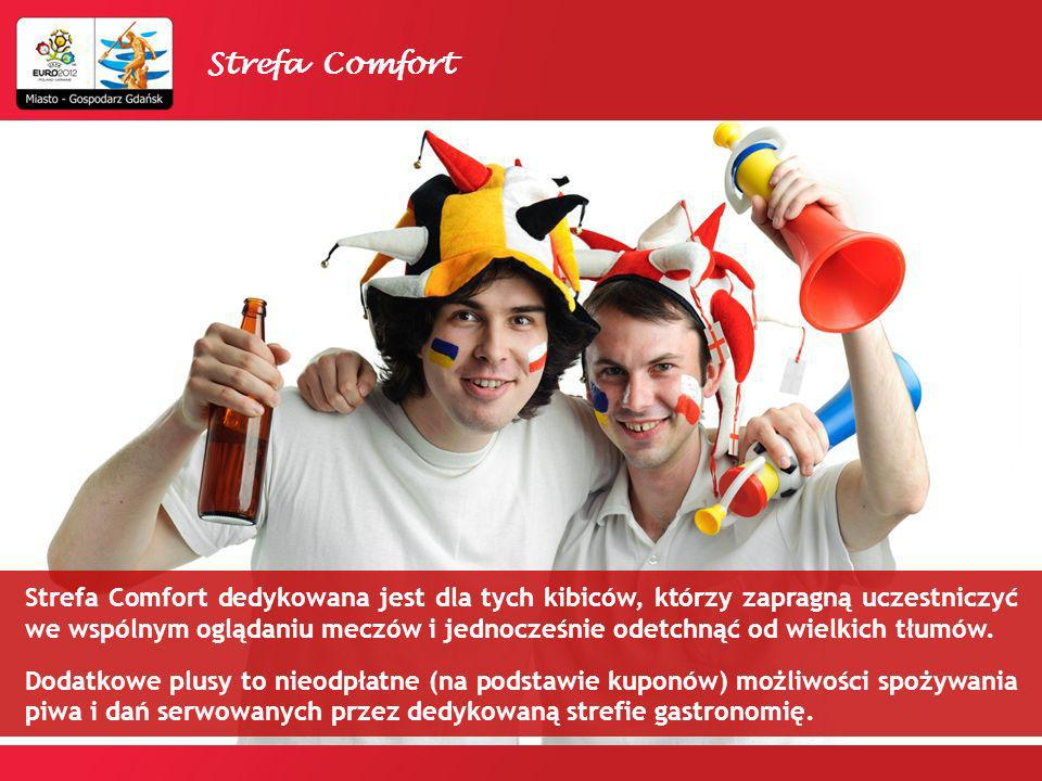 KOSZT MIEJSCA W STREFIE COMFORT W DNI MECZOWE: 80 zł / os.