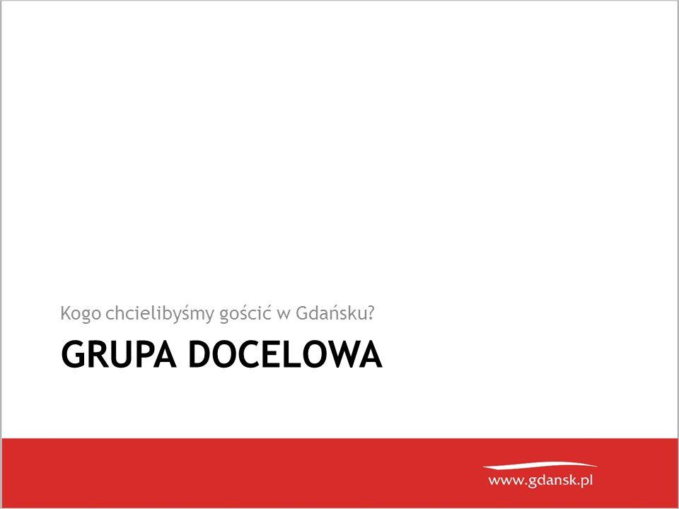 GRUPA DOCELOWA Kogo chcielibyśmy gościć w Gdańsku?