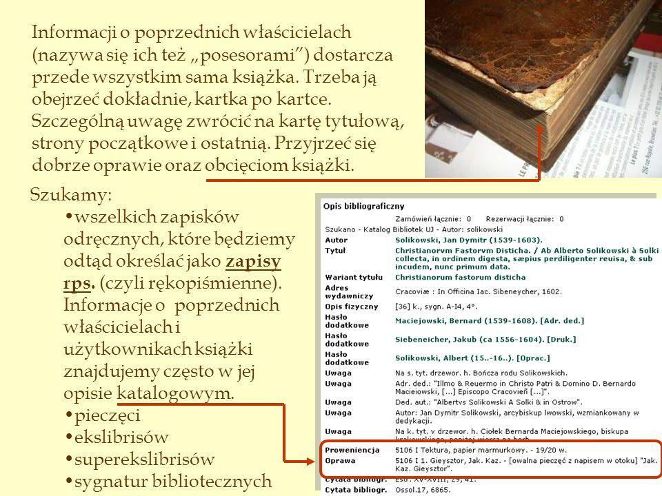 Zapis rps., XVII w.