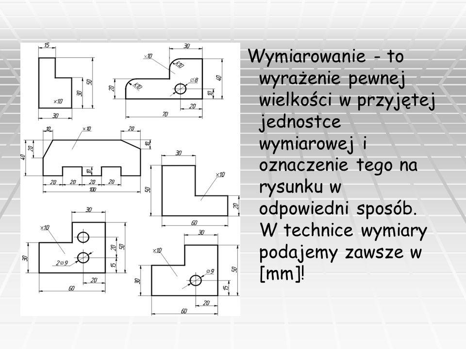 Zasady sporządzania rysunku technicznego: 1.1.