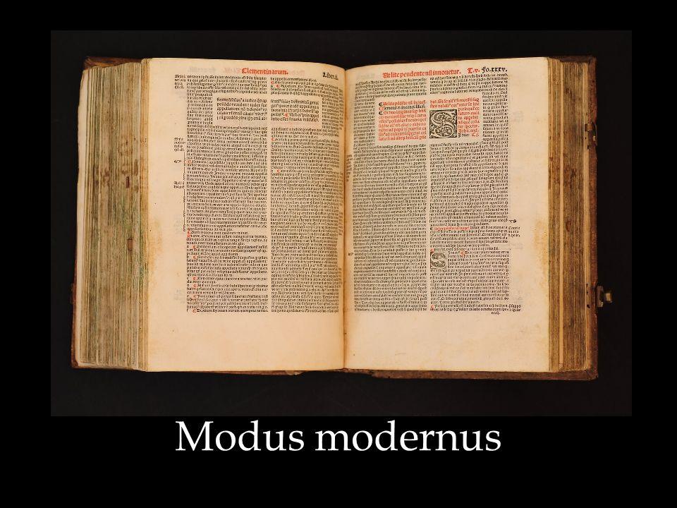 Modus modernus