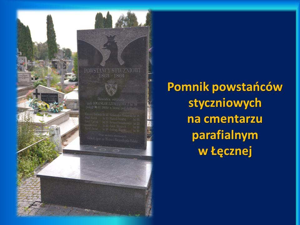 Pomnik powstańców styczniowych na cmentarzu parafialnym w Łęcznej