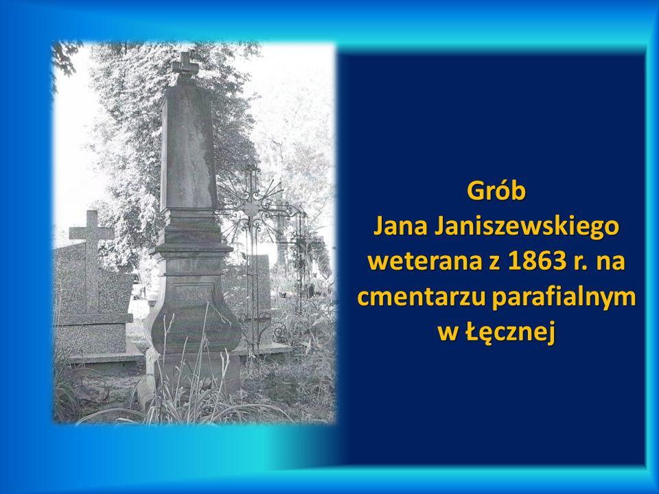 Grób Jana Janiszewskiego weterana z 1863 r. na cmentarzu parafialnym w Łęcznej
