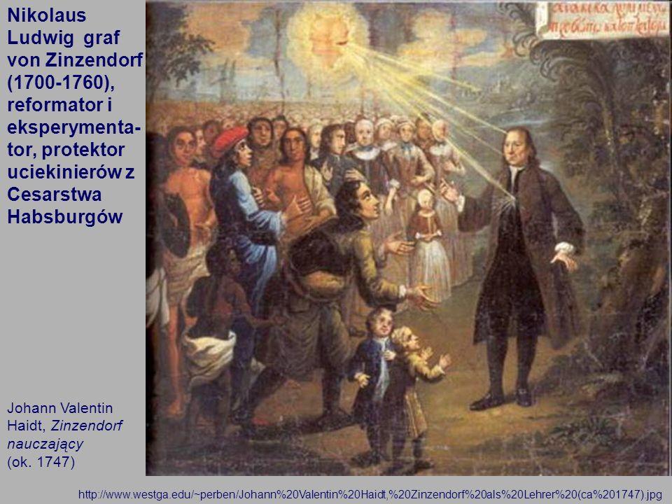 16 Johann Valentin Haidt, Zinzendorf nauczający (ok. 1747) http://www.westga.edu/~perben/Johann%20Valentin%20Haidt,%20Zinzendorf%20als%20Lehrer%20(ca%