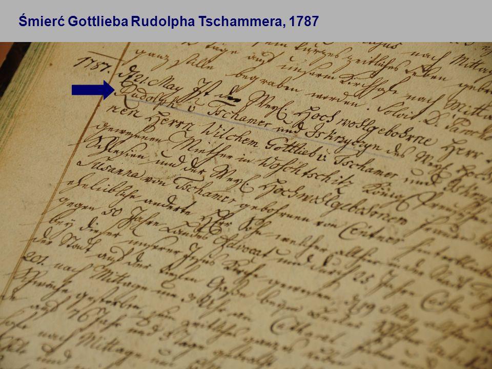 22 Śmierć Gottlieba Rudolpha Tschammera, 1787