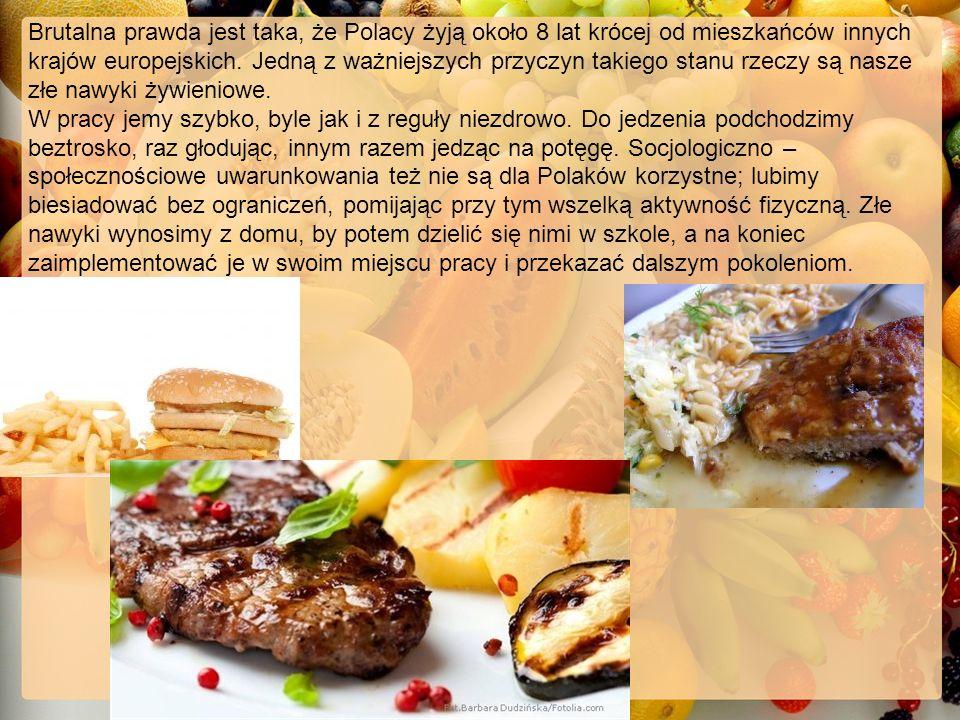Aby dbać o nasze zdrowie powinniśmy zmienić nasze nawyki – jeść regularnie, bardziej przykładać wagę do tego co jemy, ograniczyć jedzenie Fast foodów.