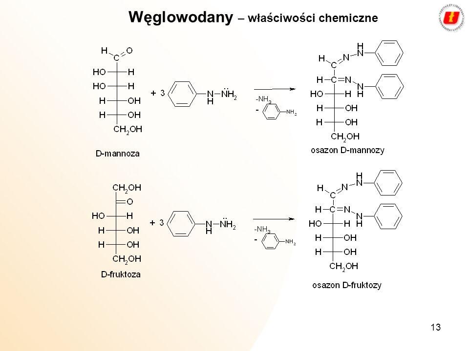 13 Węglowodany – właściwości chemiczne