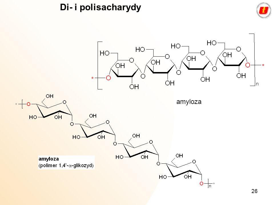26 Di- i polisacharydy amyloza