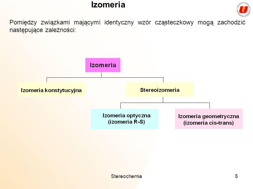 5 Pomiędzy związkami mającymi identyczny wzór cząsteczkowy mogą zachodzić następujące zależności: Izomeria
