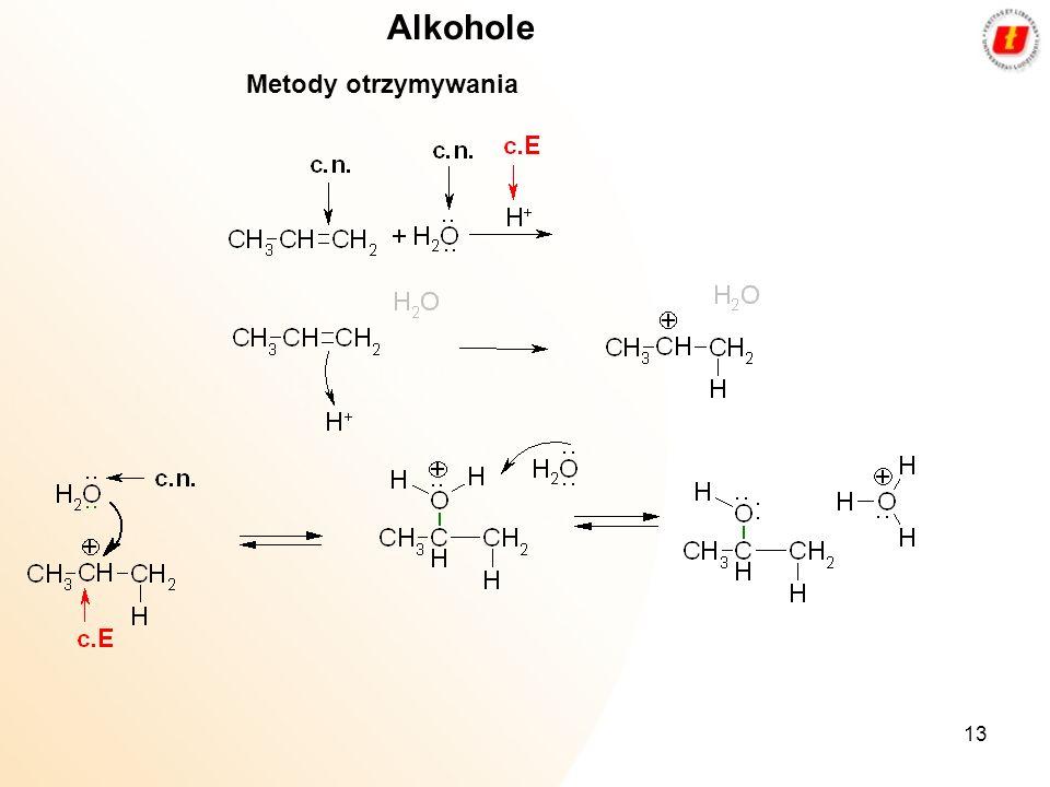 13 Alkohole Metody otrzymywania