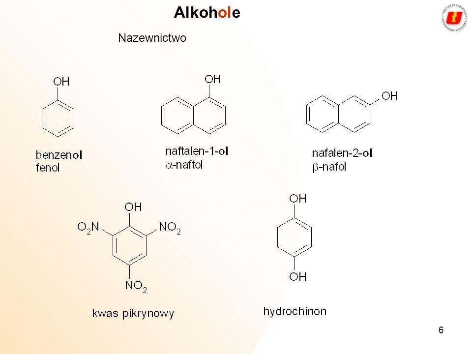 6 Alkohole Nazewnictwo