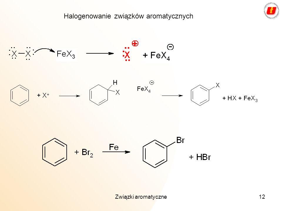 Związki aromatyczne12 Halogenowanie związków aromatycznych