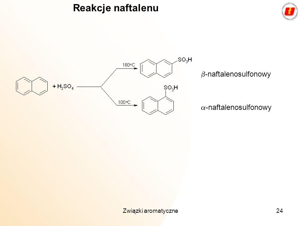 Związki aromatyczne24 -naftalenosulfonowy Reakcje naftalenu