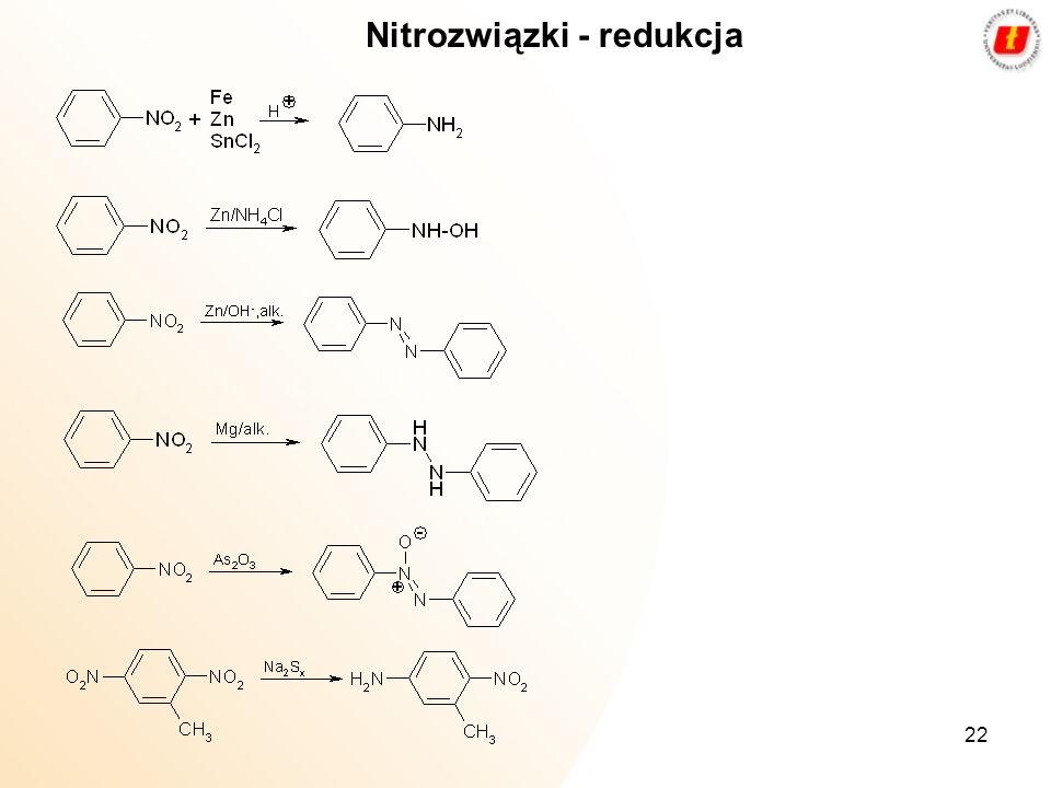 22 Nitrozwiązki - redukcja