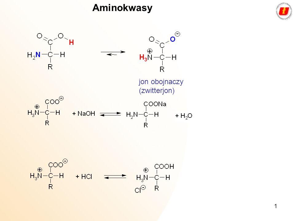 1 Aminokwasy jon obojnaczy (zwitterjon)