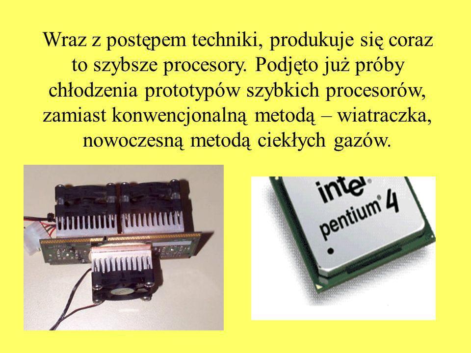 Wraz z postępem techniki, produkuje się coraz to szybsze procesory.