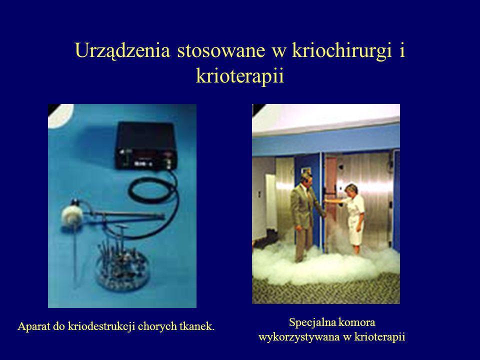 Urządzenia stosowane w kriochirurgi i krioterapii Aparat do kriodestrukcji chorych tkanek.