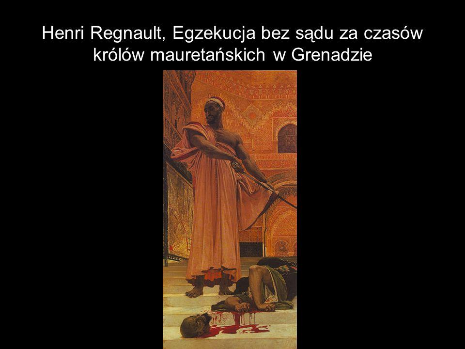 Henri Regnault, Egzekucja bez sądu za czasów królów mauretańskich w Grenadzie