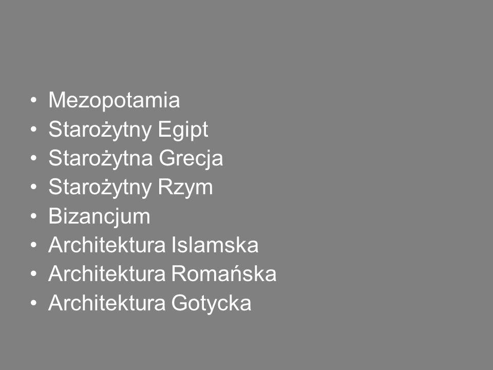 Renesans Manieryzm Barok Rokoko Klasycyzm XIX wiek: eklektyczna, historyzująca (np.