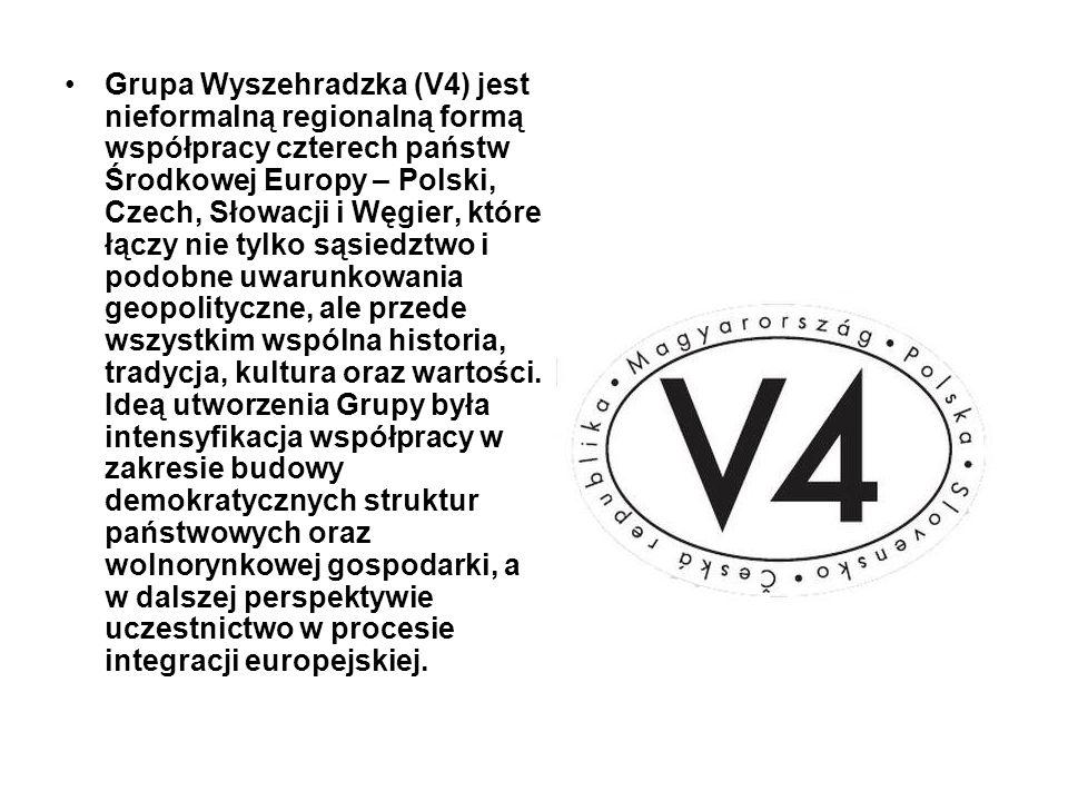 Grupa Wyszehradzka (V4) jest nieformalną regionalną formą współpracy czterech państw Środkowej Europy – Polski, Czech, Słowacji i Węgier, które łączy
