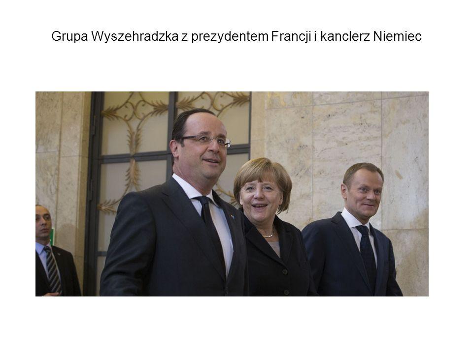 Grupa Wyszehradzka z prezydentem Francji i kanclerz Niemiec