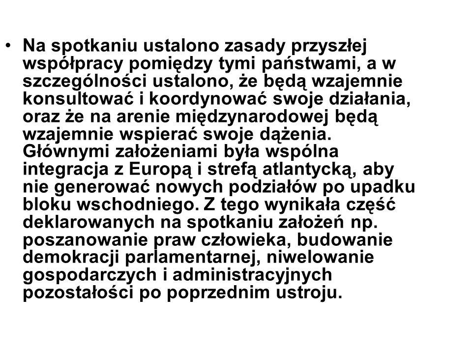 KRAKÓW Drugie spotkanie Grupy Wyszehradzkiej odbyło się 6 października 1991 roku w Krakowie.