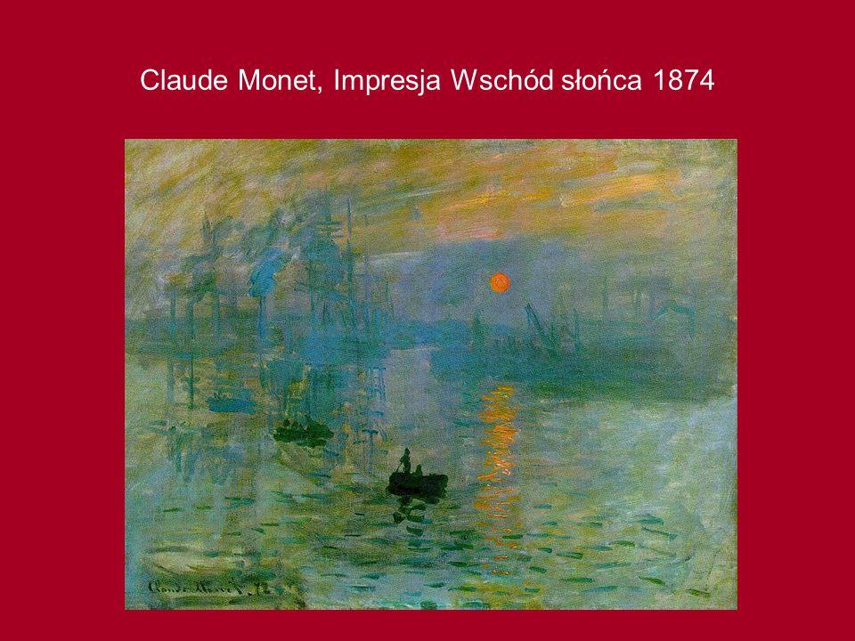 Claude Monet, Impresja Wschód słońca 1874