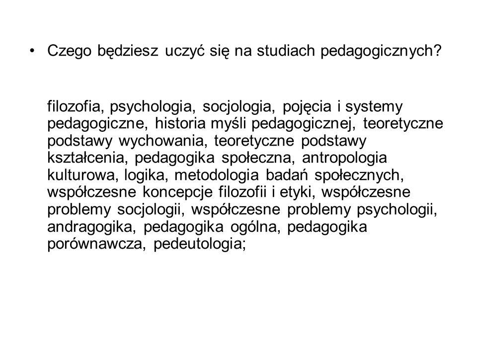 Czego będziesz uczyć się na studiach pedagogicznych.