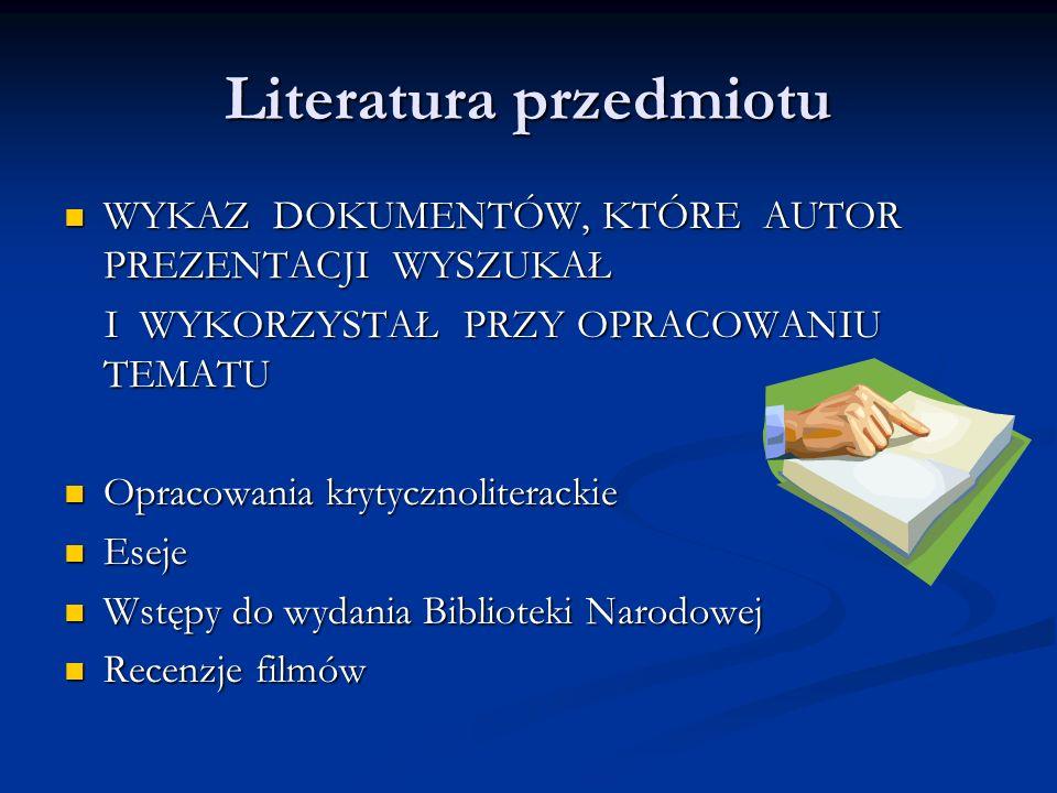 Poszukiwania...Biblioteka Naukowa Biblioteka Naukowa - katalog przedmiotowy: hasła osobowe, np.
