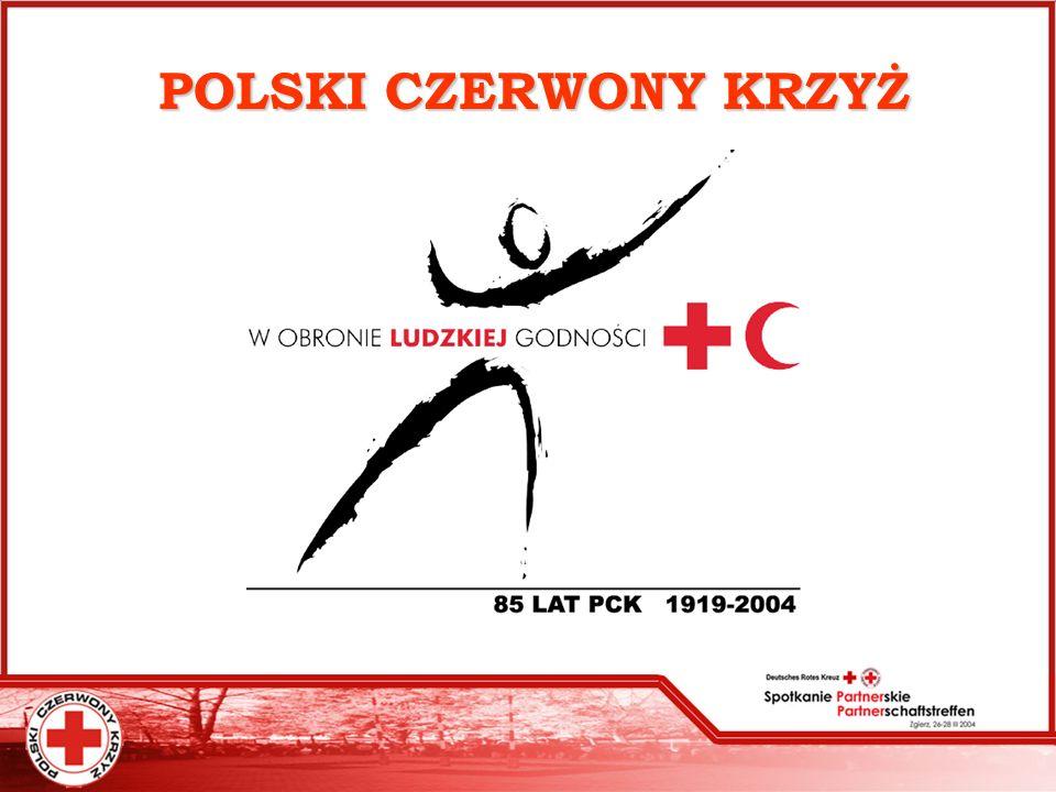 Ośrodki Opiekuńcze PCK Polski Czerwony Krzyż na terenie całego kraju prowadzi: 5 noclegowni, 4 schroniska, 5 jadłodajni, 1 stołówkę,1 prysznic Dom Interwencji Kryzysowej, Centrum Interwencji Kryzysowej, Zespól Interwencji Kryzysowej, Dom dla matek z dziećmi, 24 świetlice (środowiskowe, profilaktyczne, socjoterapeutyczne, opiekuńczo-wychowawcze) Klub socjoterapeutyczny, Ośrodek socjoterapii, Klub integracyjny dla osób upośledzonych Klub Złotego Wieku Klub Młodzieżowy Dom Pomocy Społecznej Dom Opieki PCK Punkt całodobowej Opieki PCK i OPS Dom dla bezdomnych kobiet z dziećmi Ośrodki te dysponowały 1 954 miejscami z których w 2003r.