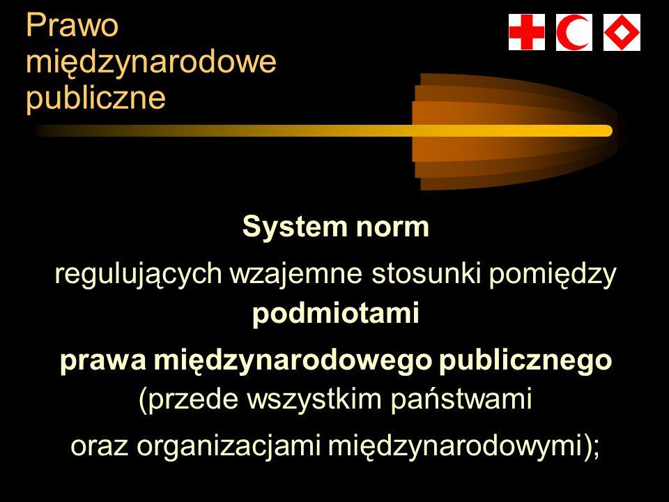 Prawo międzynarodowe publiczne System norm regulujących wzajemne stosunki pomiędzy podmiotami prawa międzynarodowego publicznego (przede wszystkim pań