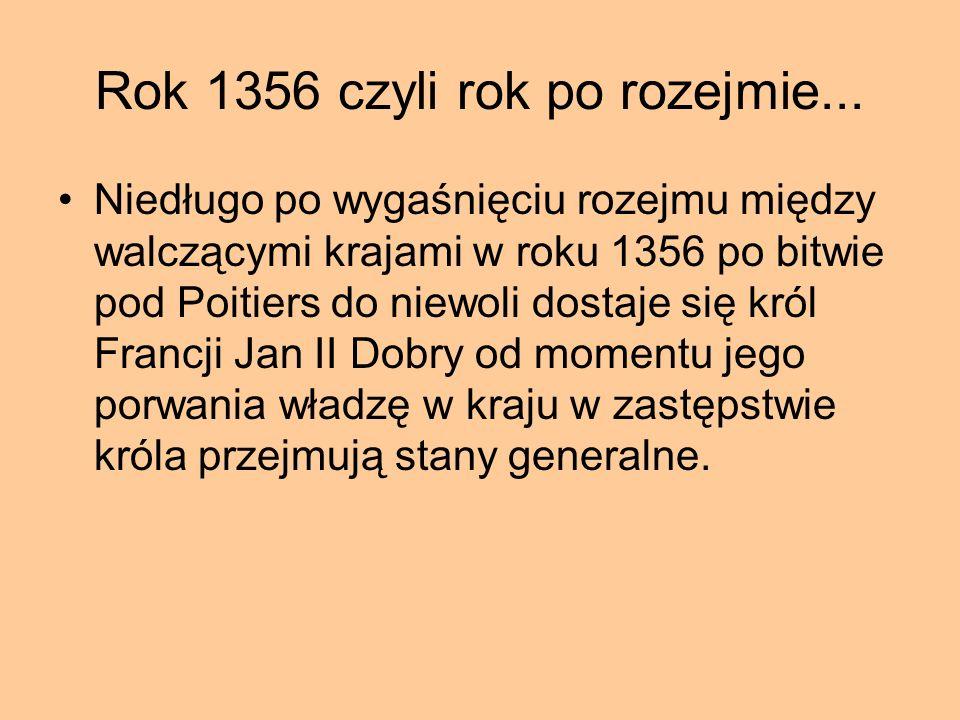 Powstanie chłopskie we Francji - Jacqueria Postanie chłopskie rozpoczęte 1356r.