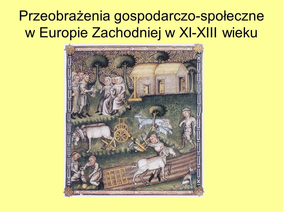 Przeobrażenia gospodarczo-społeczne w Europie Zachodniej w XI-XIII wieku