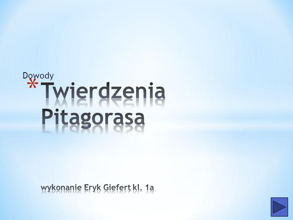 * Liczba różnych dowodów twierdzenia Pitagorasa jest bardzo duża – Euklides w Elementach podaje ich osiem, kolejne pojawiały się na przestrzeni wieków i pojawiają aż po dni dzisiejsze.
