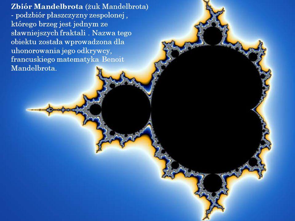 Zbiór Mandelbrota (żuk Mandelbrota) - podzbiór płaszczyzny zespolonej, którego brzeg jest jednym ze sławniejszych fraktali. Nazwa tego obiektu została