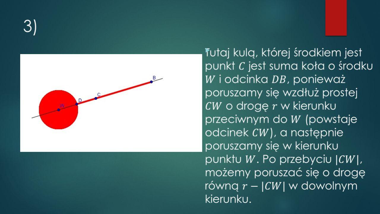 1) Kula składa się tylko ze swojego środka: 2) Kula składa się z całego zbioru: