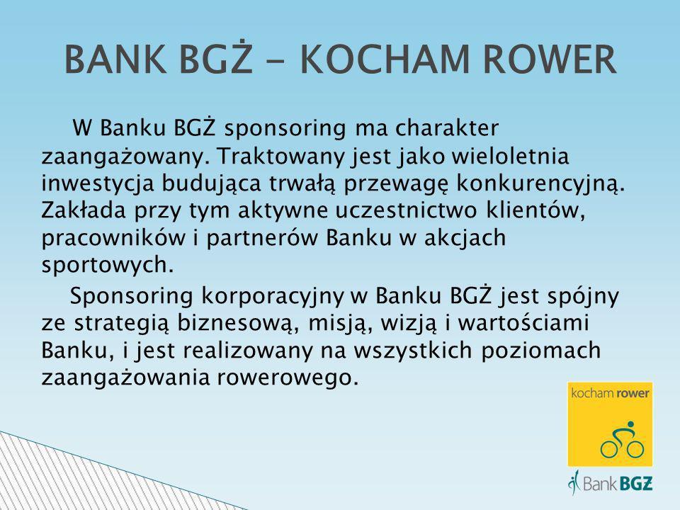 W Banku BGŻ sponsoring ma charakter zaangażowany.