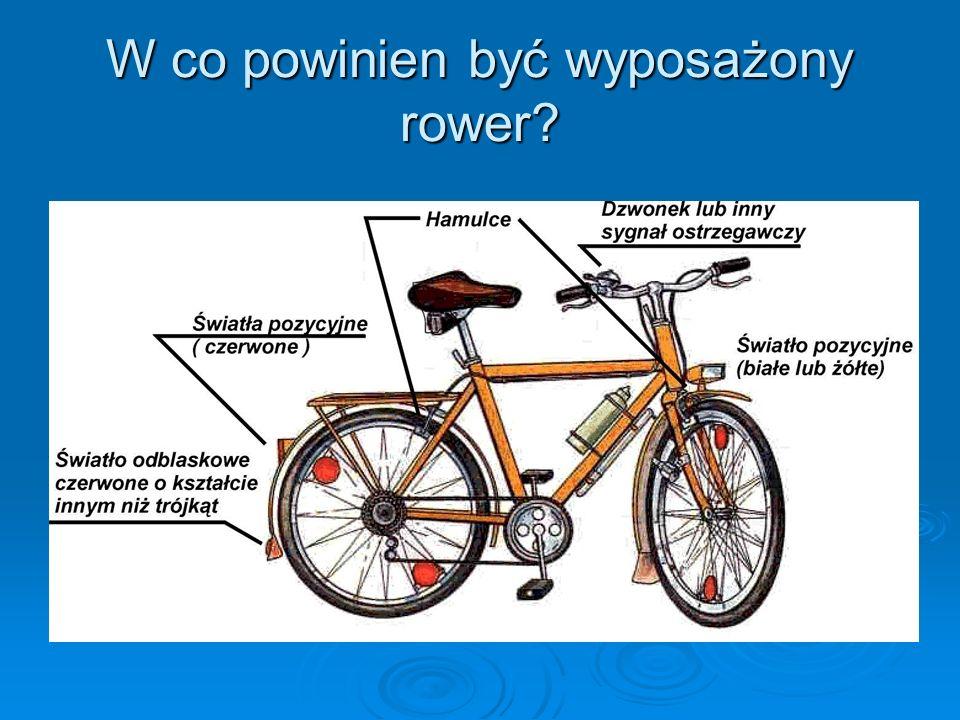 W co powinien być wyposażony rower?