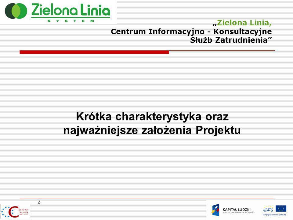 Zielona Linia, Centrum Informacyjno - Konsultacyjne Służb Zatrudnienia Zielona Linia jest nową usługą adresowaną do tych osób i podmiotów, które są klientami Publicznych Służb Zatrudnienia, lub których potrzeby informacyjne i doradcze mieszczą się w kompetencjach tych służb.