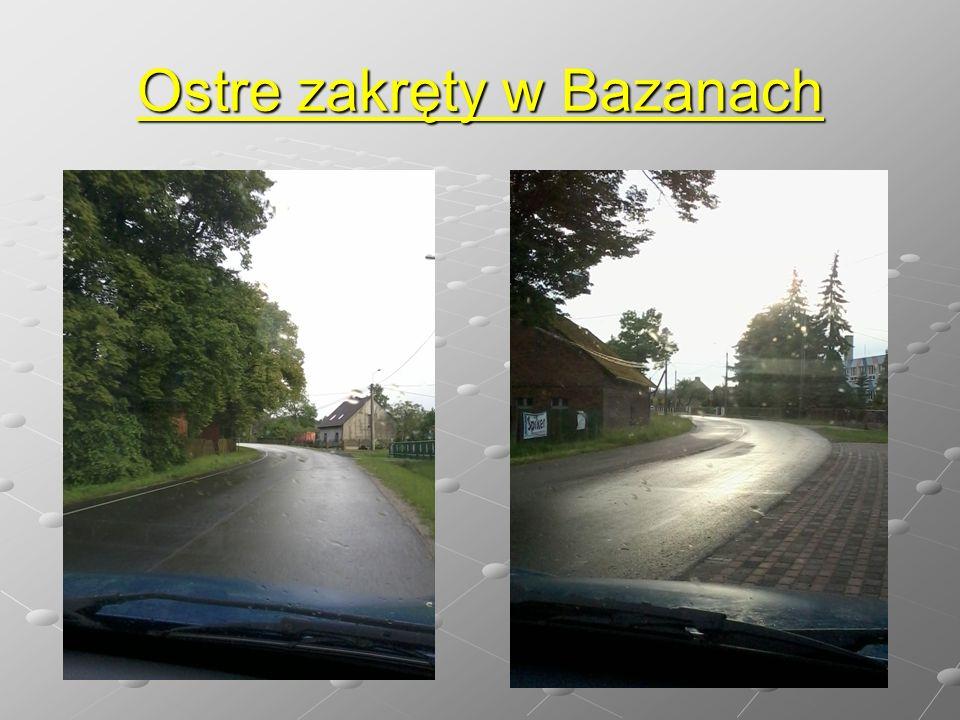 Ostre zakręty w Bazanach