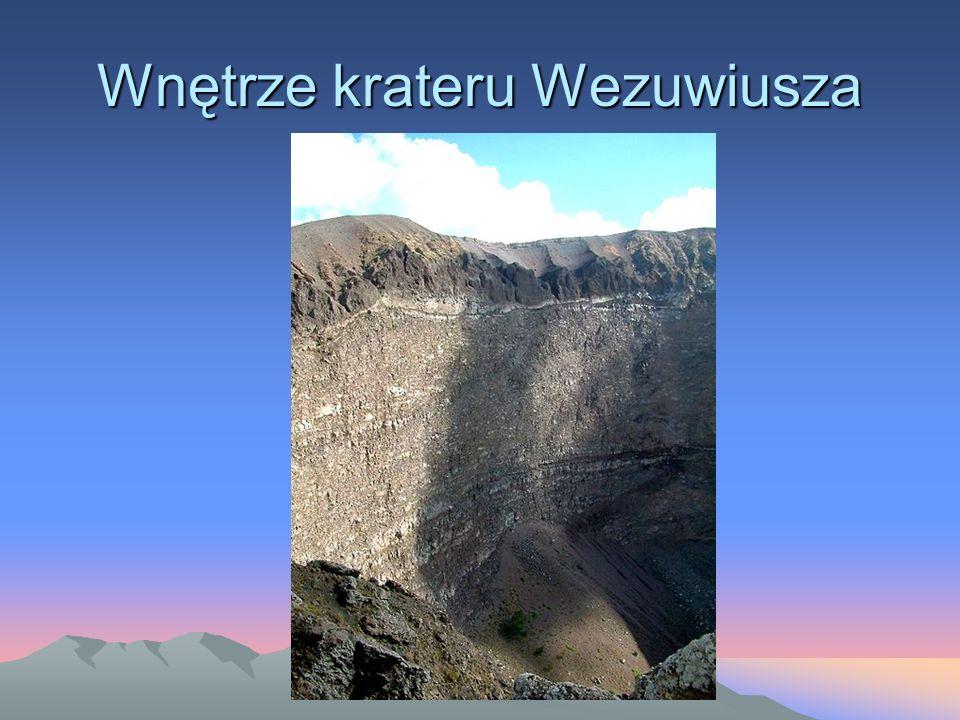 Wnętrze krateru Wezuwiusza