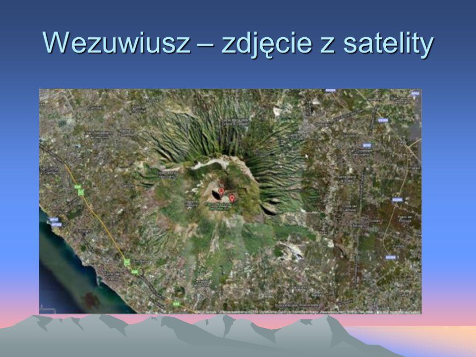 Wezuwiusz – zdjęcie z satelity
