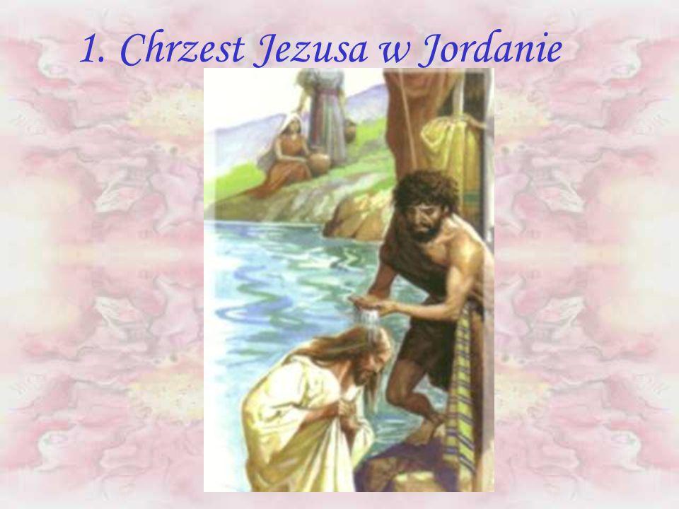 27 PAŹDZIERNIKA 2002 R. - OJCIEC ŚWIĘTY JAN PAWEŁ II OGŁOSIŁ NOWE TAJEMNICE RÓŻAŃCA ŚWIĘTEGO - TAJEMNICE ŚWIATŁA 1. Chrzest Jezusa w Jordanie 2. Objaw