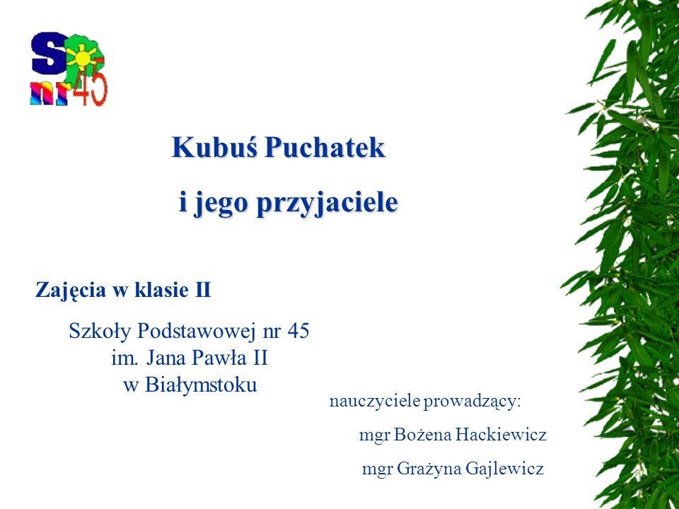 Zajęcia w klasie II Szkoły Podstawowej nr 45 im.