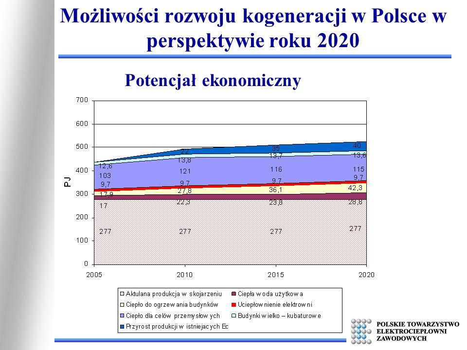 Możliwości rozwoju kogeneracji w Polsce w perspektywie roku 2020 Potencjał ekonomiczny