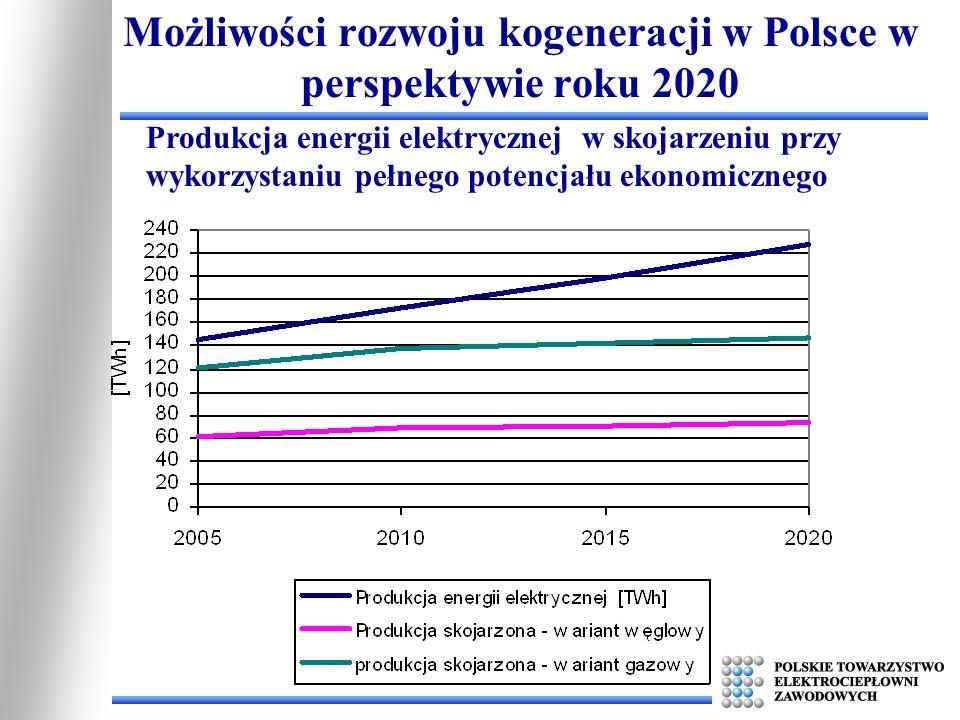 Możliwości rozwoju kogeneracji w Polsce w perspektywie roku 2020 Produkcja energii elektrycznej w skojarzeniu przy wykorzystaniu pełnego potencjału ek