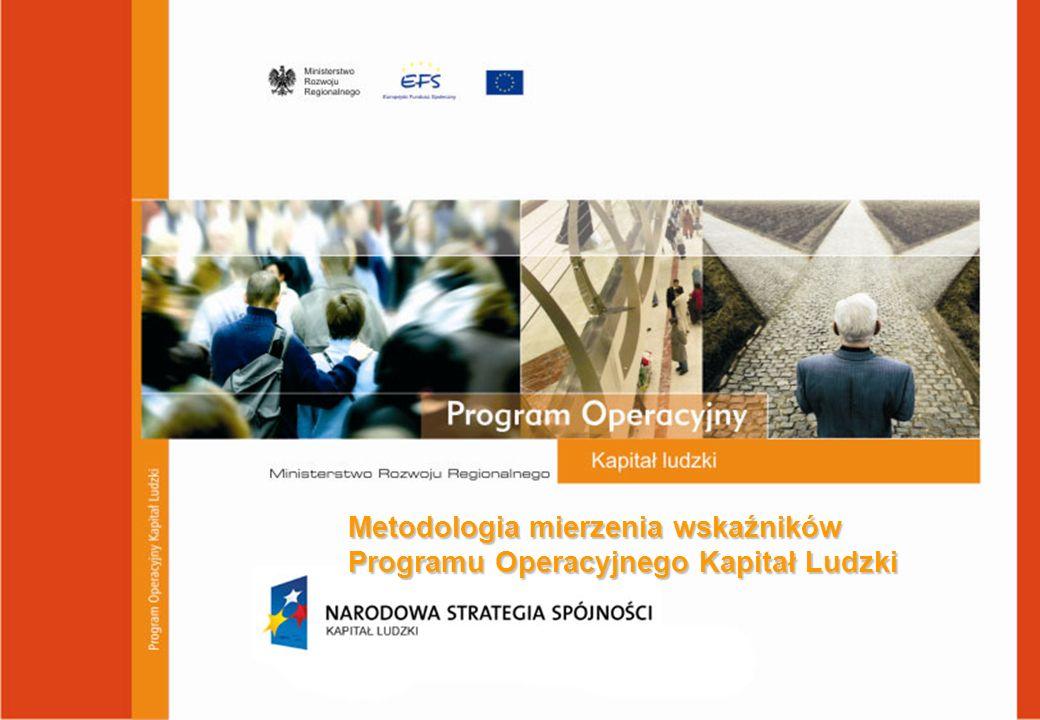 Plan komunikacji PO KL - założenia Metodologia mierzenia wskaźników Programu Operacyjnego Kapitał Ludzki