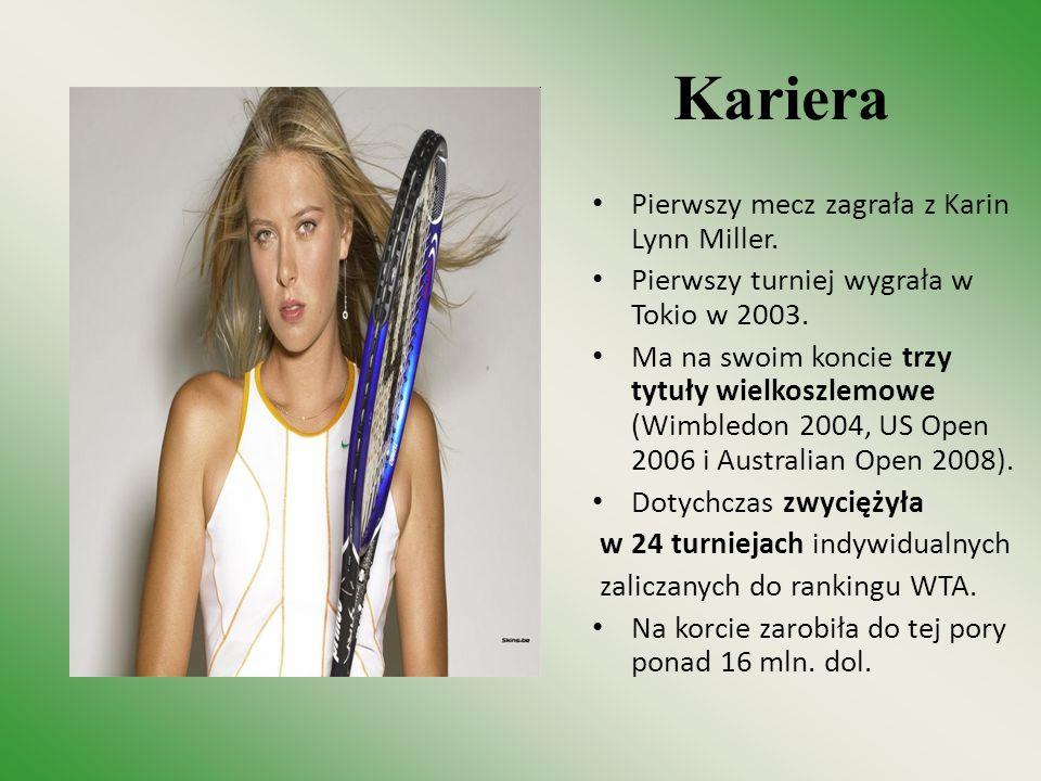 Kariera Pierwszy mecz zagrała z Karin Lynn Miller. Pierwszy turniej wygrała w Tokio w 2003. Ma na swoim koncie trzy tytuły wielkoszlemowe (Wimbledon 2