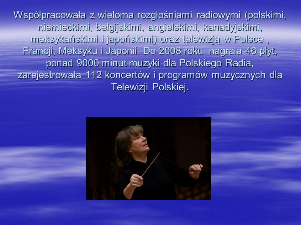 W 1977 roku utworzona i kierowana przez nią orkiestra kameralna została przekształcona w zespół Polskiego Radia i Telewizji. Agnieszka Duczmal w dalsz